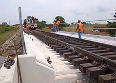 No derailments have been caused by structural integrity of a bridge.